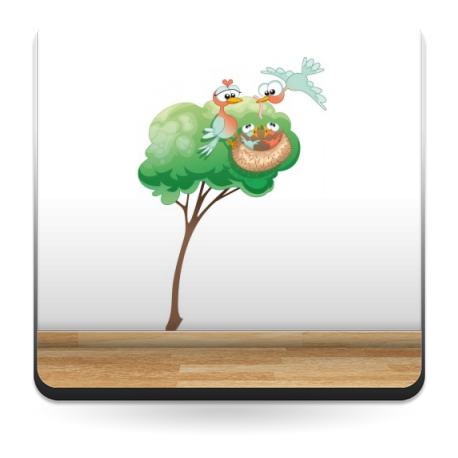 vinilos imagen producto Nido en Árbol