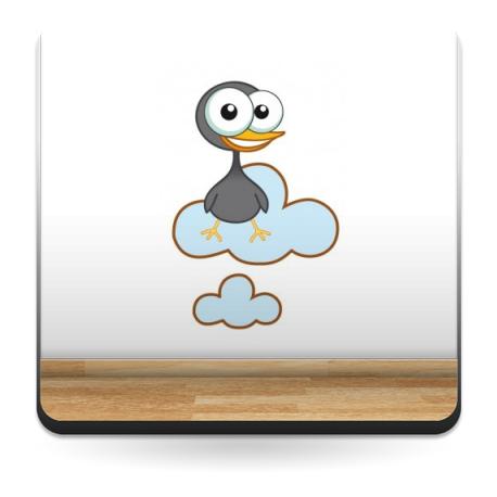 Pollito Gris en Nube imagen vista previa
