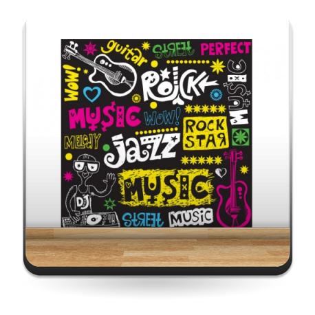 pegatina decorativa Garabatos Música Pizarra