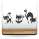 Gatos Decoración para Armario adhesivo decorativo ambiente