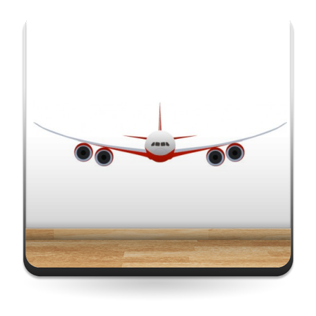 Avion Comercial para Pared producto vinilos