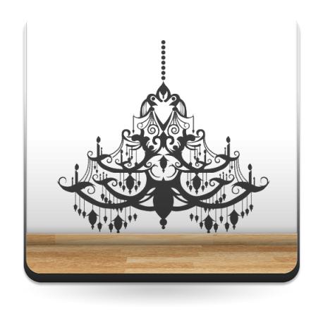 Lámpara de Araña Barroco decoración con vinilo