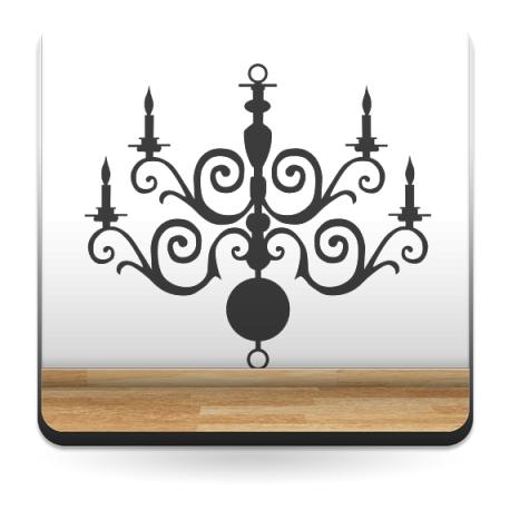 vinilos imagen producto Lámpara de Araña Romántico