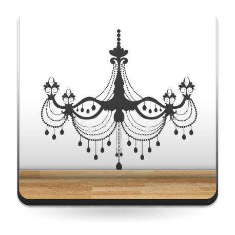 vinilo decorativo Lámpara Araña Belle Epoque