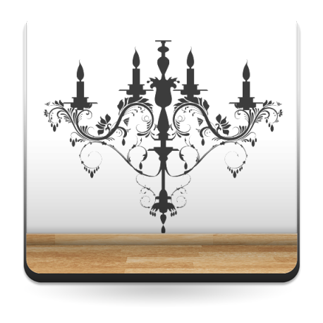 vinilo decorativo Lámpara Araña Luis XV