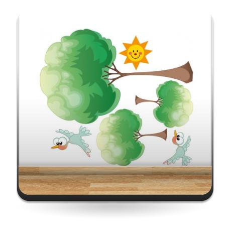 Vinilo Naturaleza composición infantil-vinilos-decorativos
