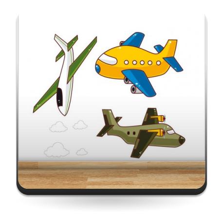 pegatina decorativa Aviones Infantil