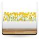 Vinilo Flores Amarillas Espejo decoración con vinilo