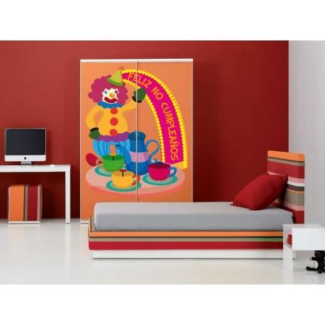 adhesivo decorativo Feliz No Cumpleaños Ferias