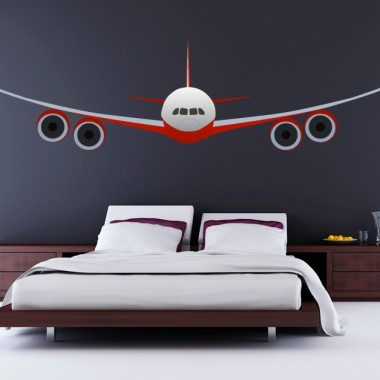 Avion Comercial para Pared adhesivo decorativo ambiente