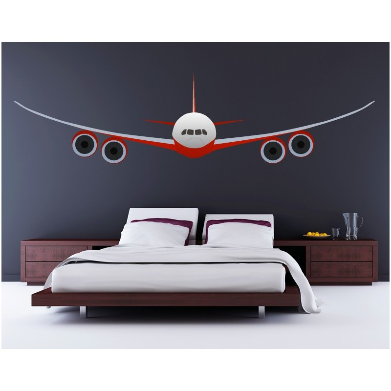 Vinilo avion comercial para pared - Fotomurales adhesivos pared ...