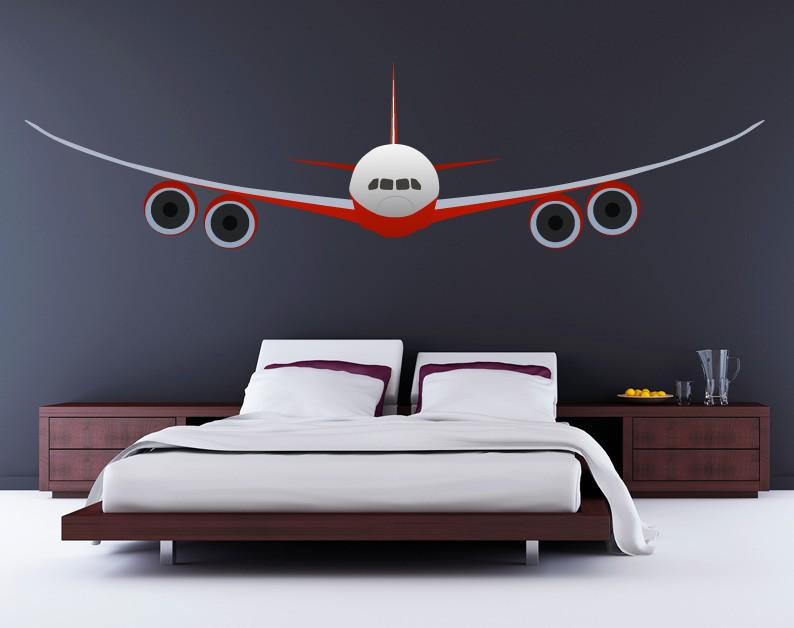 Vinilo Avion Comercial Para Pared