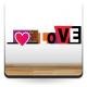 vinilo decorativo Love Pared