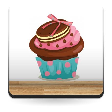 Muffin Pegatina IV decoración con vinilo