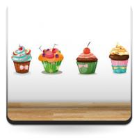Muffin Pegatina Composición
