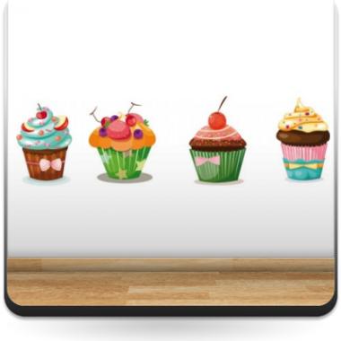 Muffin Pegatina Composición producto vinilos