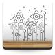 Flores Silvestres para Cabecero adhesivo decorativo ambiente