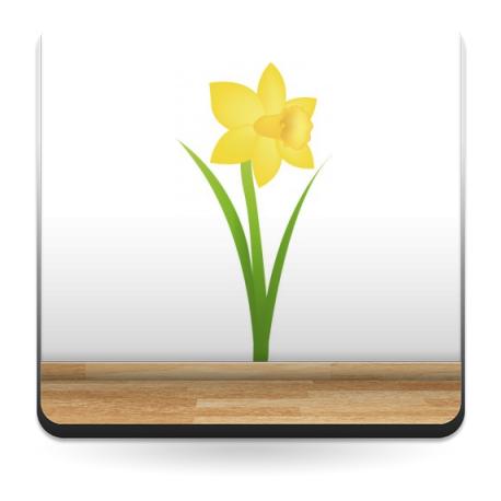 vinilo decorativo Lirio Amarillo