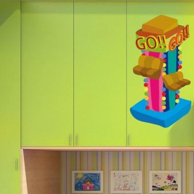 "Verti ""GO"" Ferias imagen vinilo decorativo"