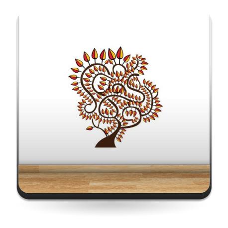 Arbol Etnico imagen vinilo decorativo