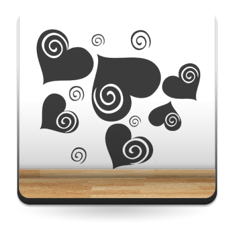 adhesivo decorativo Corazón Espiral