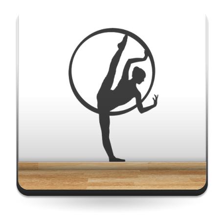 Bailarina II Ballet adhesivo decorativo ambiente