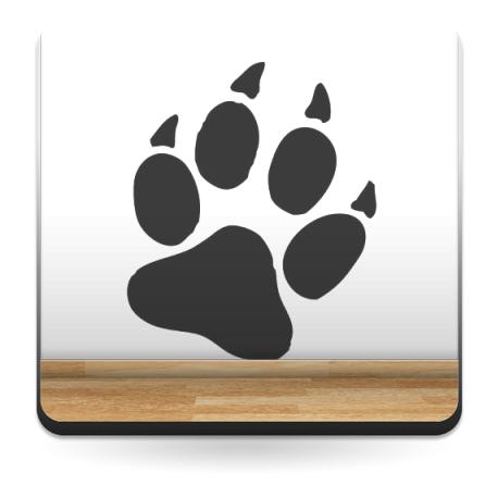 Huella Perro 1 imagen vinilo decorativo