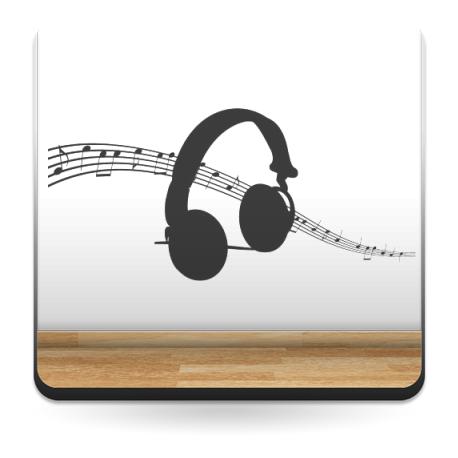 Auriculares Música imagen vinilo decorativo