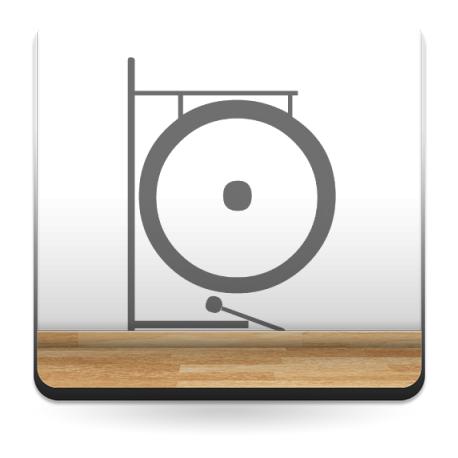 adhesivo decorativo Gong Instrumento