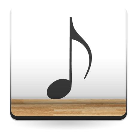 vinilos imagen producto Negrita Notas Musicales
