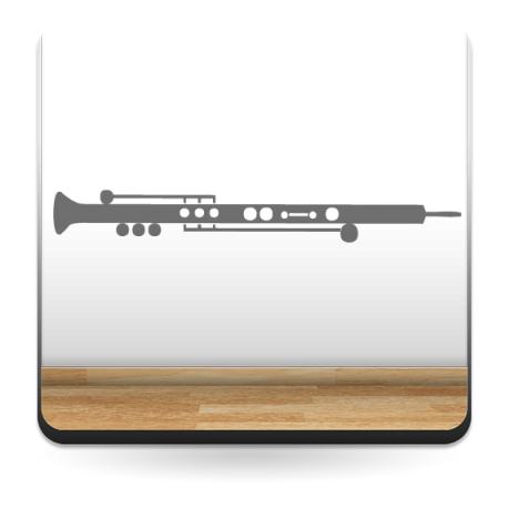 pegatina pared Clarinete Instrumento