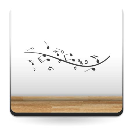Sinfonía Musical adhesivo decorativo ambiente