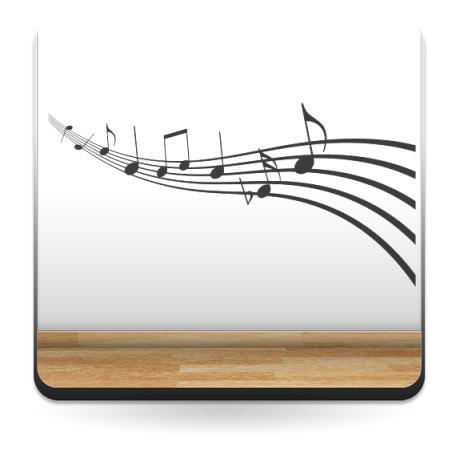 adhesivo decorativo Melodía Musical