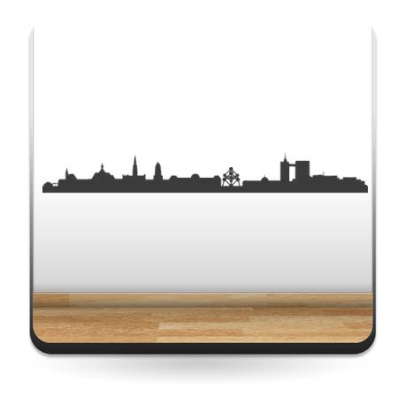 adhesivo decorativo Skyline Bruselas