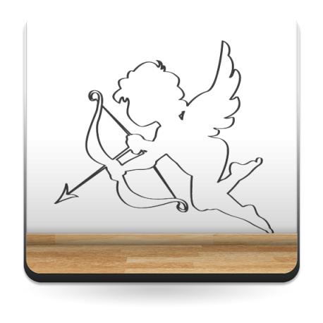 vinilos imagen producto Contorno de Cupido