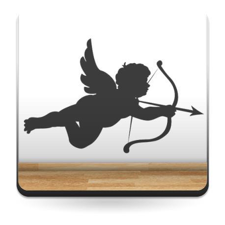 Cupido 2 decoración con vinilo