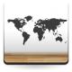 Mapa del Mundo  adhesivo decorativo ambiente