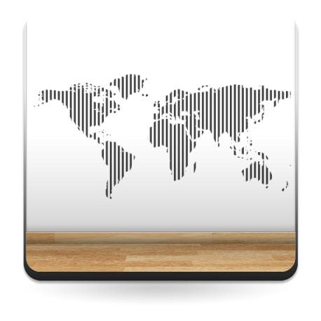 adhesivo decorativo Mapa rayado