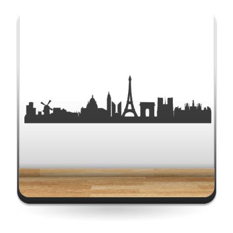 Skyline París decoración con vinilo