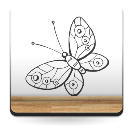 Mariposa Fantasy 3 adhesivo decorativo ambiente