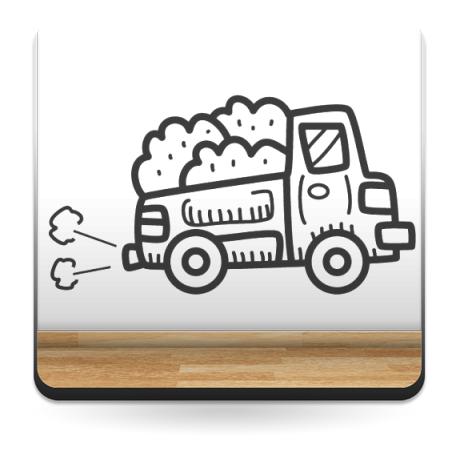 adhesivo decorativo Camión