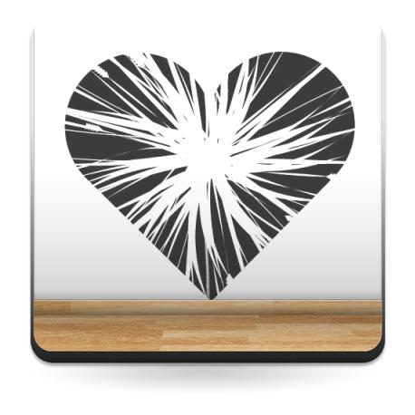 vinilo decorativo Corazón Partido