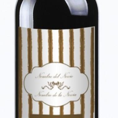 "vinilos imagen producto Etiqueta Vino ""Romance"" 20 UDS"