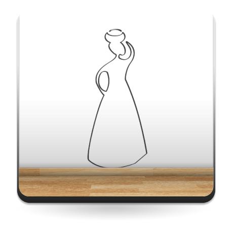 Mujer Motivo V decoración con vinilo