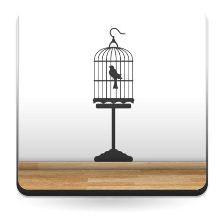 Pájaro Jaula adhesivo decorativo ambiente
