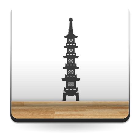 Pagoda Oriental III producto vinilos