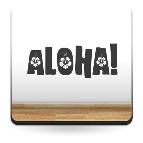 Aloha Motivo decoración con vinilo