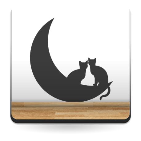 Gato en Luna II imagen vinilo decorativo