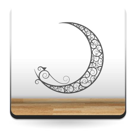 pegatina decorativa Luna Étnica