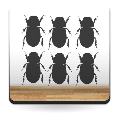 pegatina pared Escarabajo Motivo